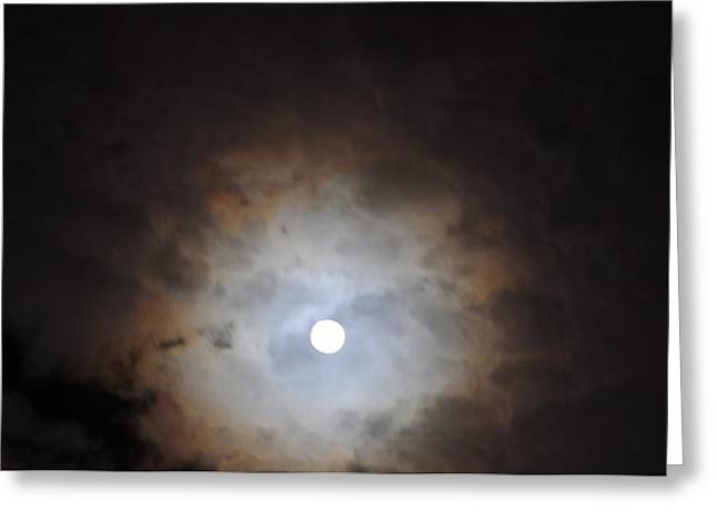 In Any Case The Moon Greeting Card by Jon Benson