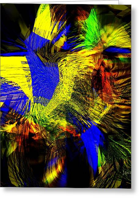 In Chaos - Yet Here Is My Praise Greeting Card by Fania Simon