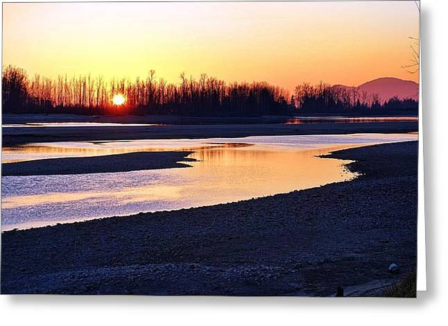 The Fraser River Greeting Card by Heather Vopni