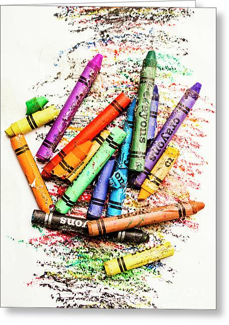 In Colours Of Broken Crayons Greeting Card