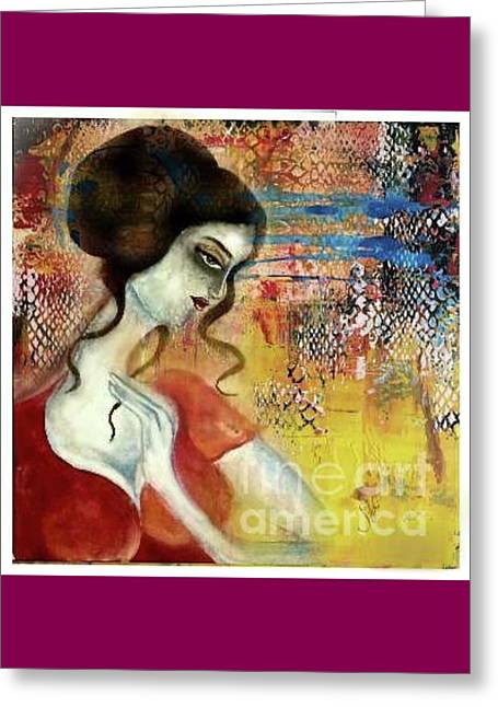 In Deep Thinking Greeting Card by Syeda Ishrat