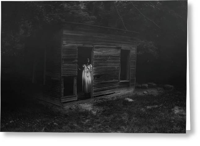 In Fear She Waits Greeting Card by Tom Mc Nemar