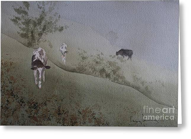 In From The Fog Greeting Card by Penny Stroening