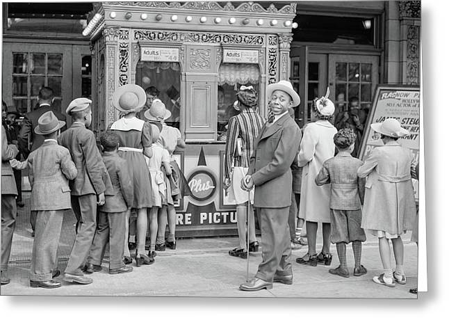 In Front Of A Movie Theater, Chicago, Illinois Greeting Card