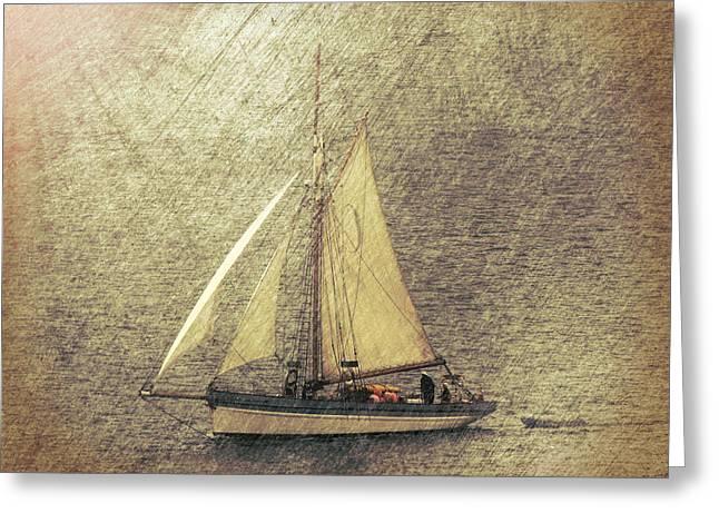 In Full Sail Greeting Card