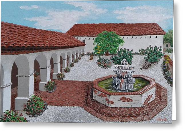 In Its Day Mission San Miguel Greeting Card