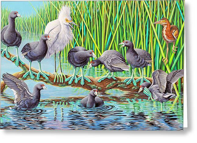 in Kahoots with Coots Greeting Card