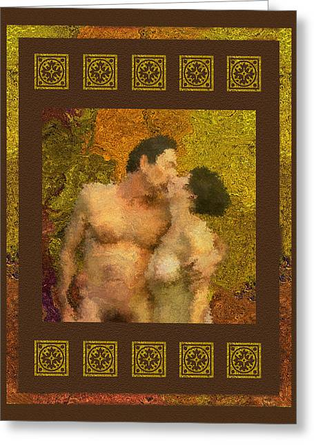 In Love Greeting Card by Kurt Van Wagner