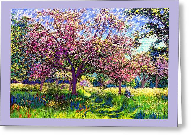 In Love With Spring, Blossom Trees Greeting Card
