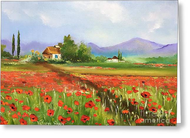 In Love With Toscana's Poppies Greeting Card