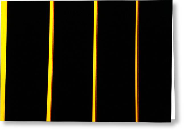 In Memory Of Dan Flavin Greeting Card by Kevin Callahan
