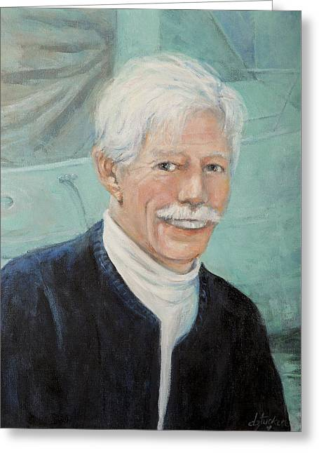 Greeting Card featuring the painting In Memory Of Uncle Bud by Donna Tucker
