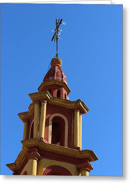 In Mexico Bell Tower Greeting Card