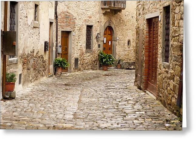 In Montefioralle Greeting Card by Rae Tucker