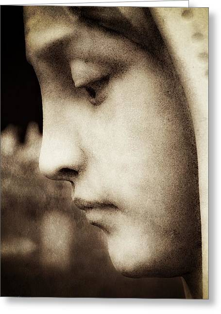 In Mourning Sepia Greeting Card by Melissa Bittinger