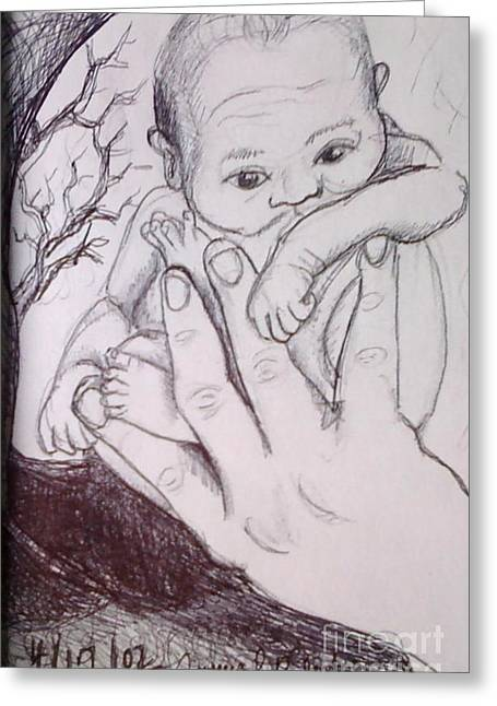 In My Father's Hand Greeting Card by Jamey Balester