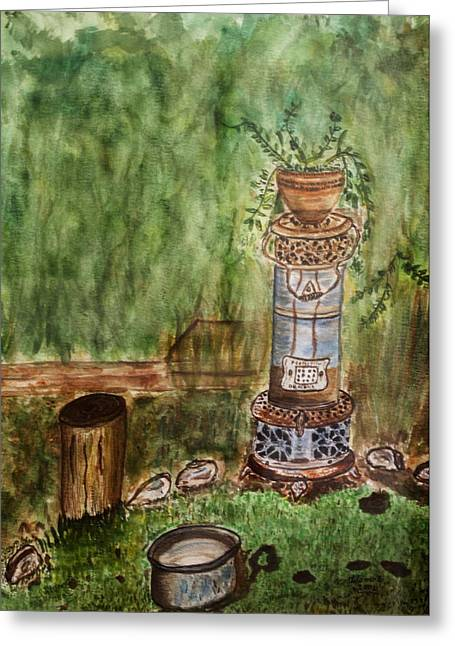 In My Garden. Greeting Card by Shlomo Zangilevitch