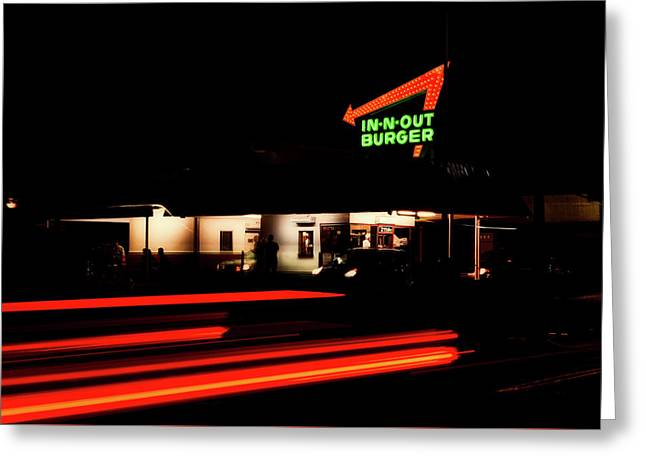 In - N - Out Burger Greeting Card by L O C