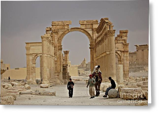 In Old Palmyra Greeting Card by Cendrine Marrouat