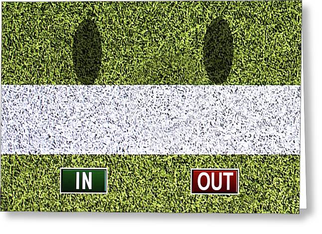 In Out - Wimbledon Greeting Card by Carlos Vieira