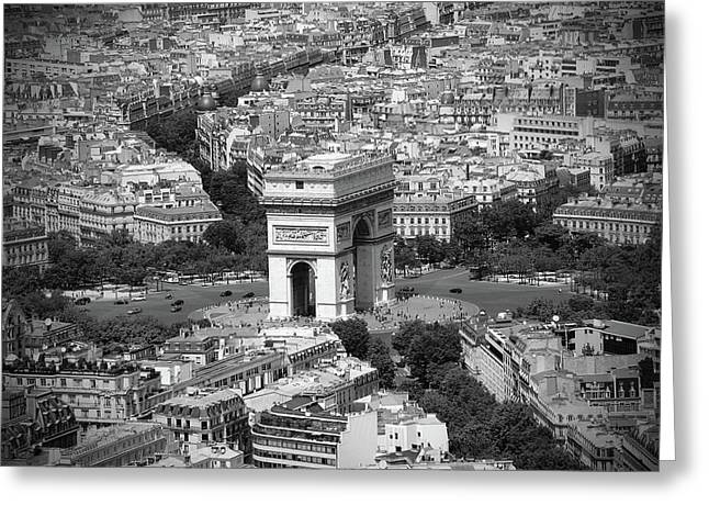 Dslr Greeting Cards - In Paris BW Greeting Card by Kamil Swiatek