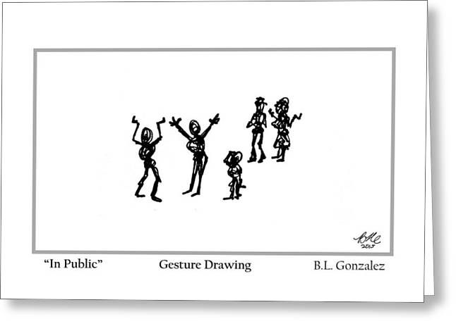 In Public Greeting Card