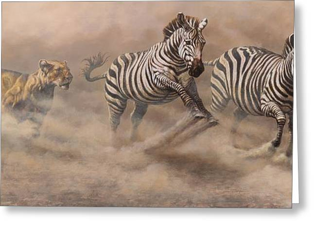 In Pursuit Greeting Card