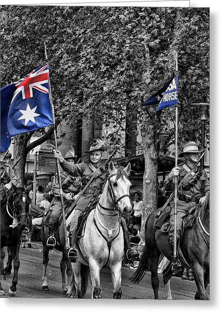 Anzac Greeting Cards - In Remembrance Greeting Card by Douglas Barnard