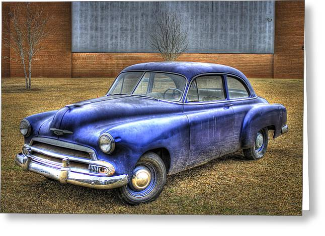 In Retirement 1951 Chevrolet Coupe Greeting Card by Reid Callaway