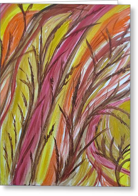 In Rushes Fall Greeting Card by Sharyn Winters