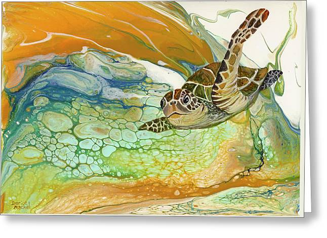 Greeting Card featuring the painting In Search Of Sea Grass  by Darice Machel McGuire