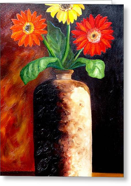 In Sharp Contrast.  Sold Greeting Card by Susan Dehlinger