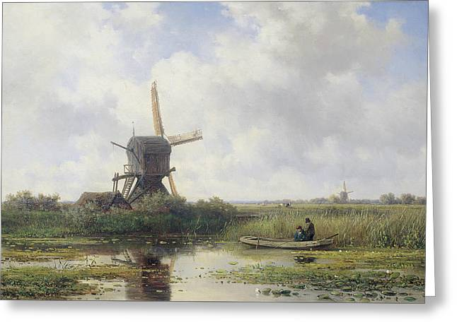 In 't Gein Bij Abcoude  Greeting Card by Willem Roelofs