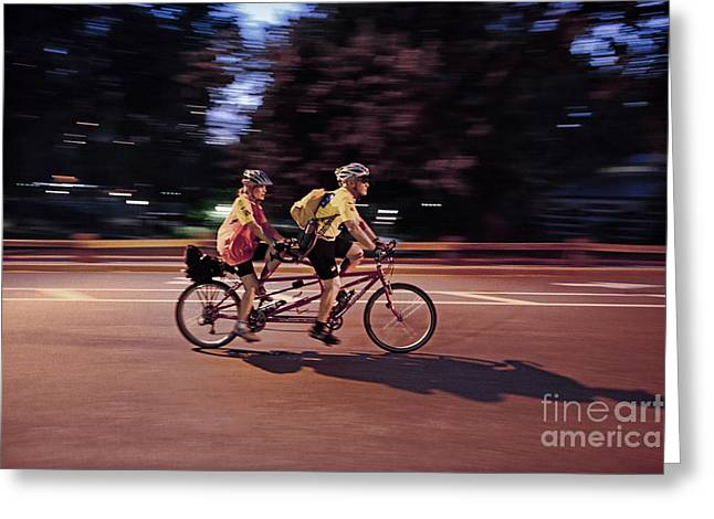 In Tandem Greeting Card by Paul Ward