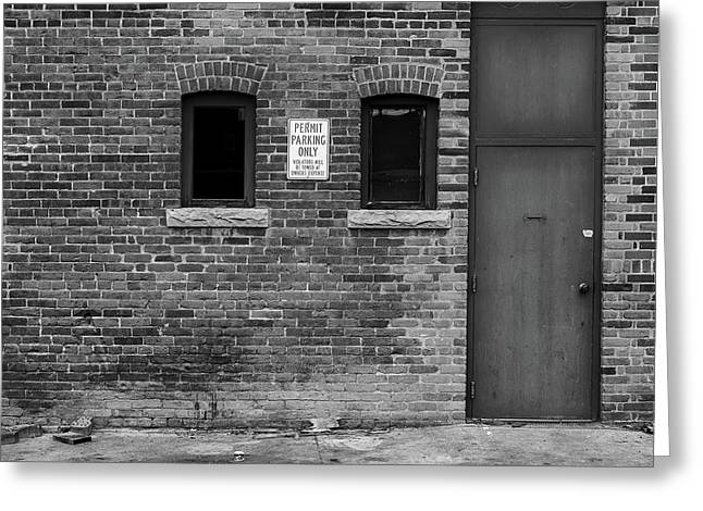 Greeting Card featuring the photograph In The Alley by Monte Stevens