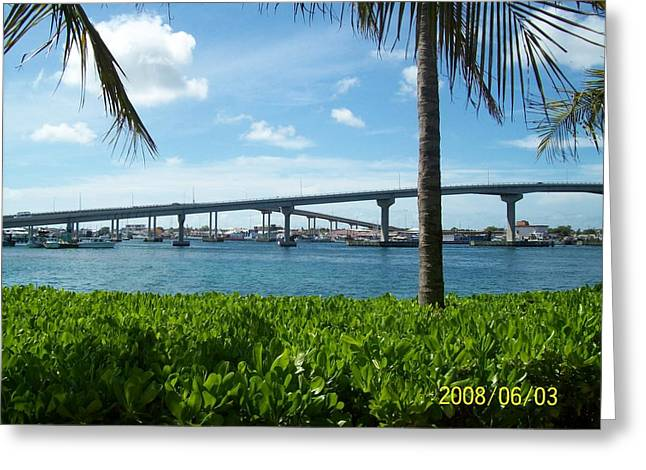 In The Bahamas Greeting Card by Rishanna Finney