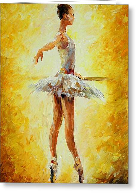 In The Ballet Class Greeting Card by Leonid Afremov