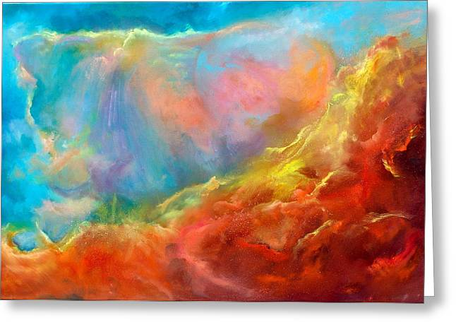 Nebule Greeting Cards - In the Beginning II Greeting Card by Sally Seago