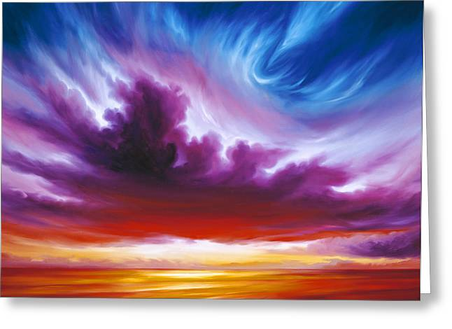 Sunrise Greeting Cards - In the Beginning Greeting Card by James Christopher Hill
