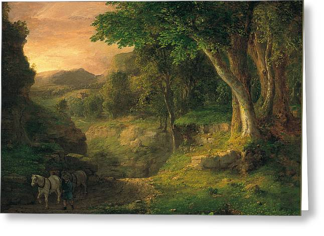 In The Berkshires Greeting Card by George Inness