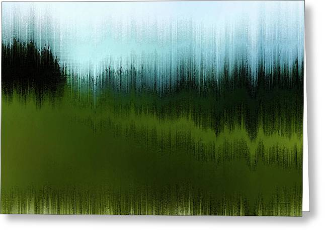 Greeting Card featuring the digital art In The Black Forest by Gina Harrison
