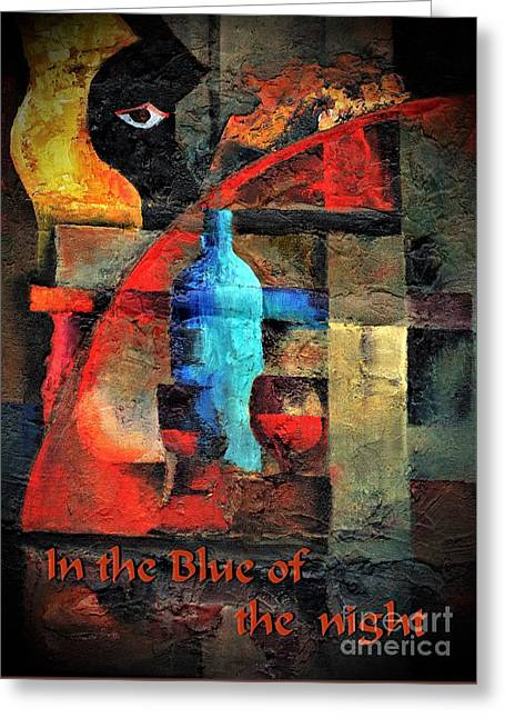 In The Blue Of The Night Greeting Card by Val Byrne
