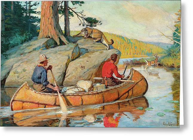 In The Canoe Greeting Card
