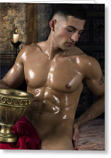 Dionysus In The Olympus  Greeting Card by Mark Ashkenazi