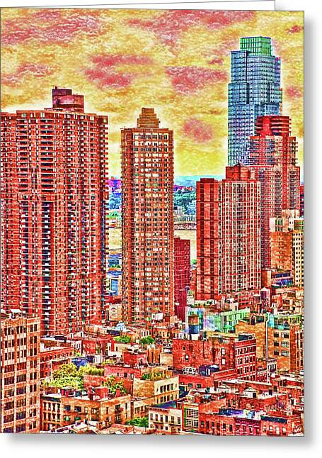 In The City Greeting Card by Barbara Manis