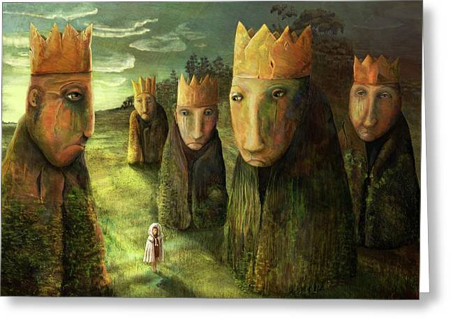 In The Company Of Kings Greeting Card