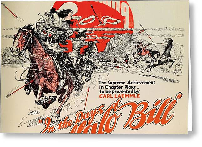 In The Days Of Buffalo Bill 1922 Greeting Card