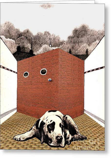 In The Dog House  Greeting Card by Andy  Mercer