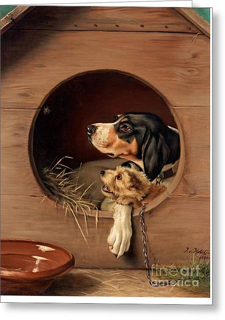 In The Doghouse Greeting Card