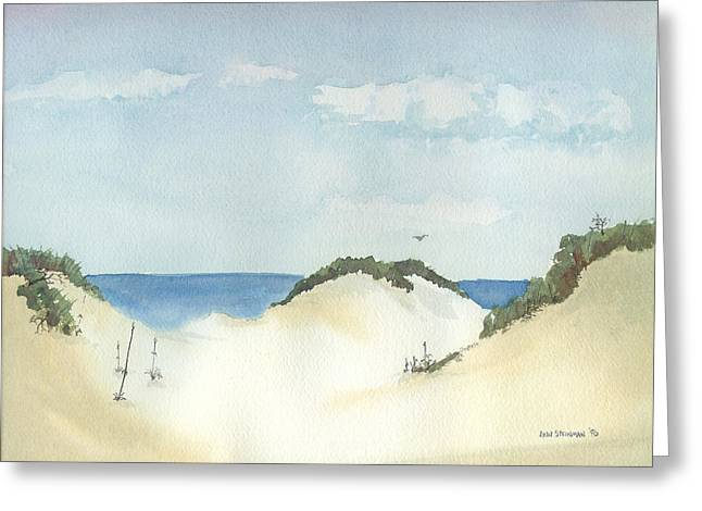 In The Dunes Greeting Card by Lynn Babineau